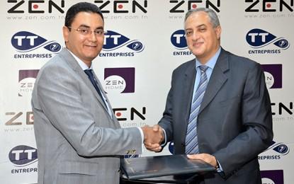 Le Groupe Zen intègre le club des partenaires de Tunisie Telecom