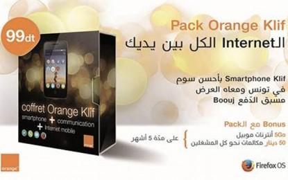 Orange Klif, le 1er smartphone 3G Firefox OS en Tunisie, à 99 dinars