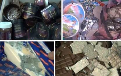 Aliments périmés pour enfants recyclés et remis en vente