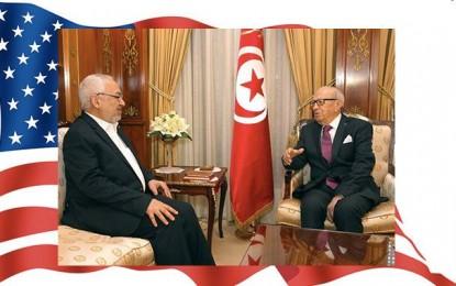 A la veille de son départ pour Washington, Caïd Essebsi reçoit Ghannouchi