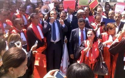 Bardo: Les magistrats protestent devant l'Assemblée
