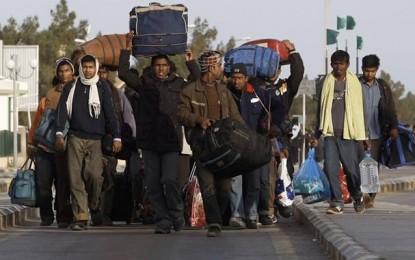 Ras Jedir: Des réfugiés égyptiens arrivent de Libye sans papiers d'identité