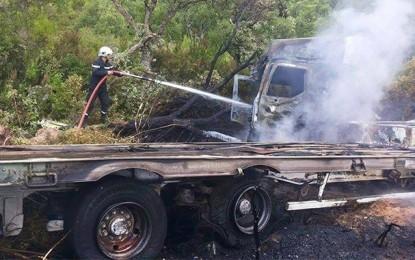 Accident de camion à Jendouba: Deux passagers sauvés in-extrémis