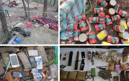 Kasserine: Photos de camps terroristes découverts à Jebel Salloum