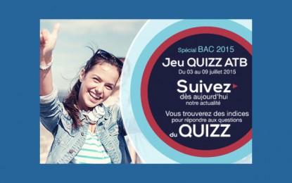 ATB lance un jeu Quizz pour fêter le Bac 2015