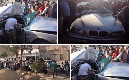 Accident à Sfax: Le directeur de la protection civile entre la vie et la mort