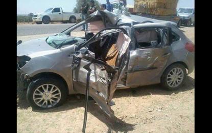Kairouan : Un accident de la route fait 2 morts