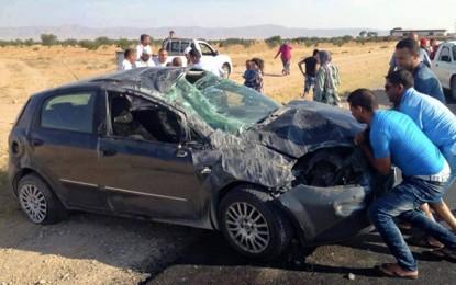 Gafsa : Un père et 2 enfants morts dans un accident à Sidi Yaïch