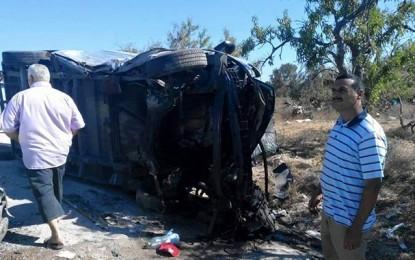 Teboulba : 4 morts, dont un enfant, dans un accident de la route