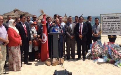 Attentat de Sousse: Ghannouchi se recueille sur la mémoire des victimes