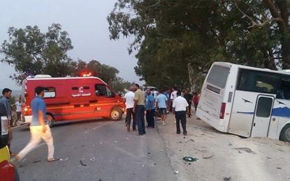 Kasserine : 21 blessés dans un accident de la route