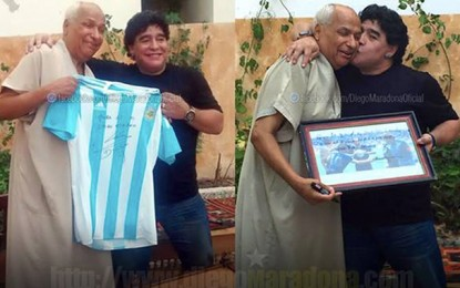 Diego Maradona rend visite à son ami tunisien Ali Bennaceur