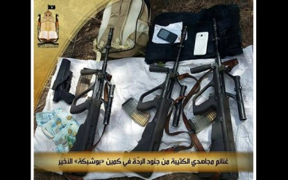 La Katibat Okba Ibn Nafaâ publie des photos du butin de l'attaque de Bouchebka