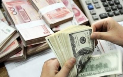 Les avoirs en devises passées de 128 à 123 jours d'importation