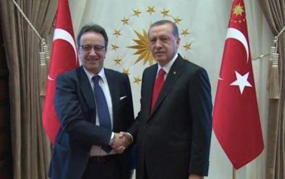 Nida Tounes : Hafedh Caid Essebsi reçu par Recep Tayyip Erdogan