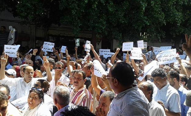Instituteurs-manifestant-à-la-Kasbah