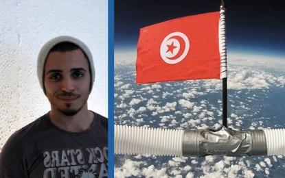 Mehdi Mtimet, l'étudiant qui a donné des ailes au drapeau tunisien (Vidéo)