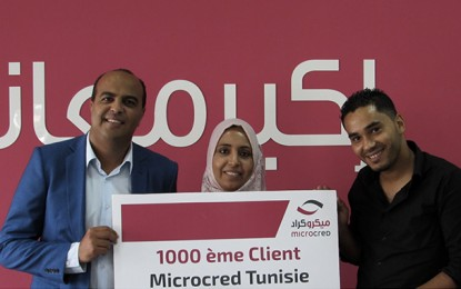 Micro-finance : Microcred Tunisie fête son 1000e client!