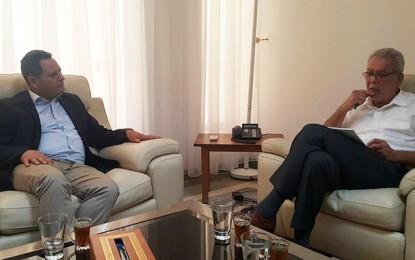 Kamel Jendoubi à l'écoute des doléances des journalistes