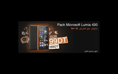 Orange Tunisie commercialise le Microsoft Lumia 430 à partir de 99 DT