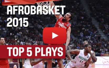 Les actions de Salah El Mejri parmi les tops 5 d'Afrobasket