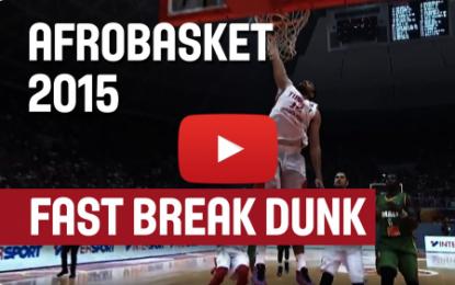 Finish magistral de Ben Romdhane sur un Dunk !  (AfroBasket 2015)