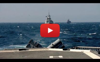 Visite de l'un des navires de l'OTAN accosté au port de La Goulette