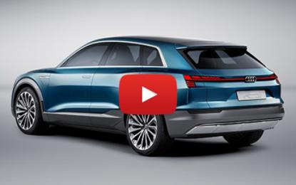 Salon de l'automobile: le concept car e-tron quattro d'Audi