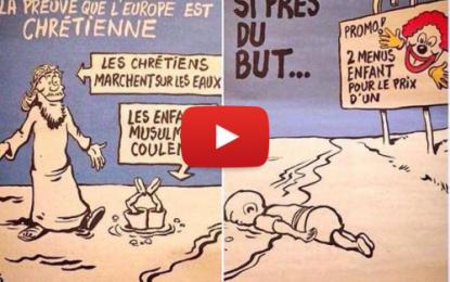 Charlie Hebdo choque en ironisant sur la mort du petit Aylan