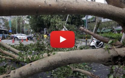 Le typhon Dujuan frappe l'Asie