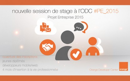 Orange Developer Center : Nouvelle session de « Projet Entreprise »