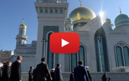 Vladimir Poutine inaugure la Grande Mosquée de Moscou