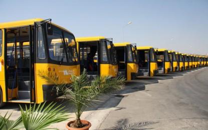 Transport : Réception de 100 bus d'occasion importés de France