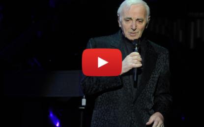 Charles Aznavour de nouveau sur scène après quatre ans d'absence
