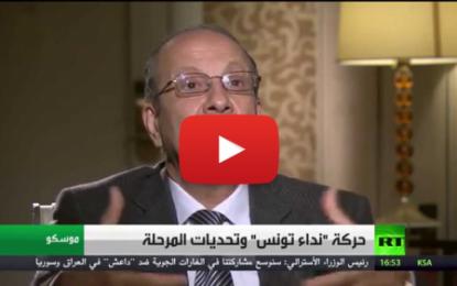 Interview de Faouzi Elloumi, vice-président de Nidaa touness, à la chaîne de télévision RT