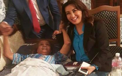 Latifa Arfaoui au chevet de Fatma Boussaha