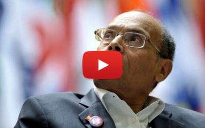 Marzouki incite les tunisiens à venir manifester en masse