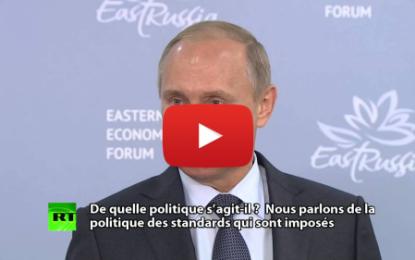 Crise migratoire: Vladimir Poutine ouvre le feu sur l'Europe et les USA
