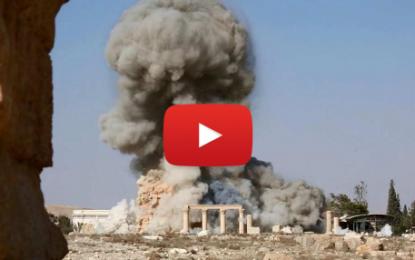 L'Arc de triomphe de Palmyre détruit par Daech