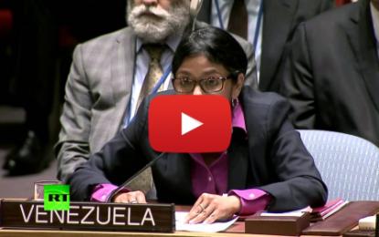 M.A.E. du Venezuela à l'ONU: «Arrêtez votre hypocrisie»!