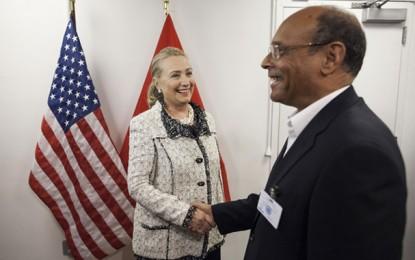 Le satisfécit de Hillary Clinton à Moncef Marzouki