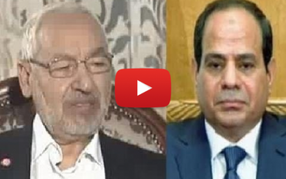 R. Ghannouchi: «Al-Sissi n'est pas le bienvenu en Tunisie»!