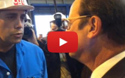 Un militant de la CGT refuse de serrer la main de Hollande