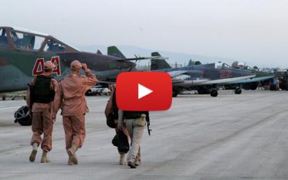 Vidéo inédite de l'aérodrome russe en Syrie