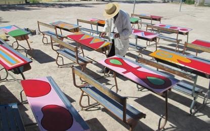 Bousalem : Un directeur d'école et ses élèves colorient la vie
