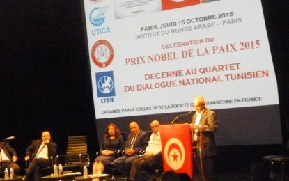 Nobel de la paix : Les Tunisiens en France honorent le Quartet et la Tunisie
