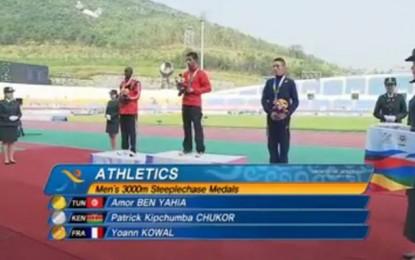 Jeux mondiaux militaires : L'or pour Amor Ben Yahia aux 3000m steeple
