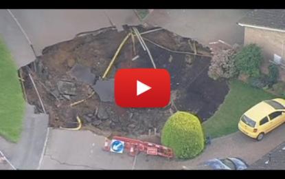 Un trou géant apparaît à Londres