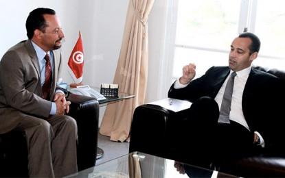 L'ambassadeur Daniel Rubinstein reçu par Yassine Brahim