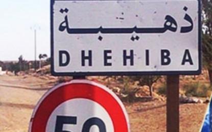 Zone militaire de Dhehiba : Saisie d'armes dans une voiture